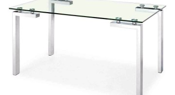 clear office desk simple square glass