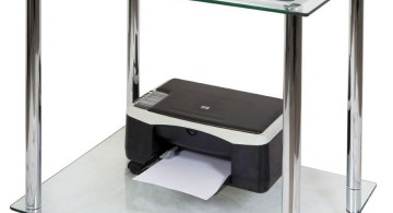 clear office desk two tiered