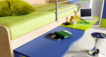 colorful with hideaway desk cool ideas for bedroom