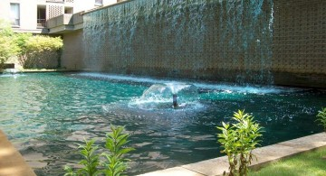 contemporary curtain pool waterfall ideas