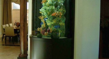 contemporary fish tank coral tank