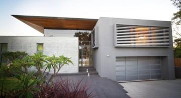 contemporary garage in grey