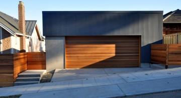 contemporary garage side road