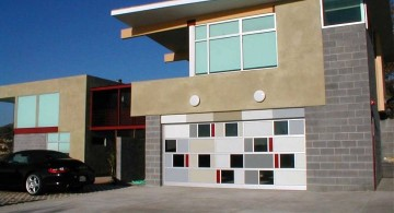 contemporary garage with tiles detail