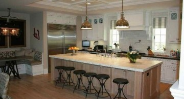 contemporary kitchen island with seating for six