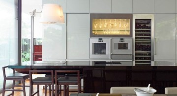detached modern house kitchen and dining area