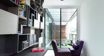 detached modern house sitting area