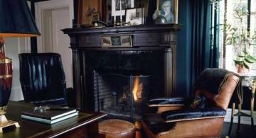 eclectic rooms in dark color tones