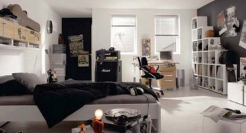 featured image of cool ideas for bedroom in black and white for teenage guys