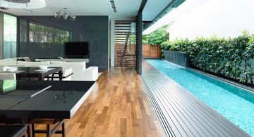 featured image of detached modern bungalow in Singapore by HYLA Design pool side