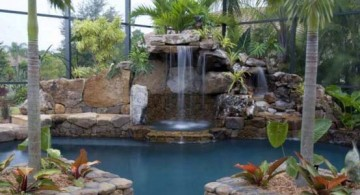featured image of tall indoor pool waterfall ideas