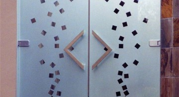 geometrical pattern modern glass door