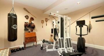 home gyms ideas with sandbag