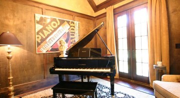 home music room with piano corner
