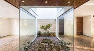 indian modern house interior garden