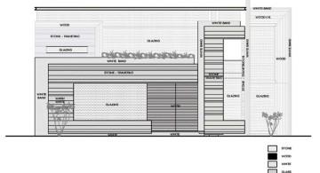 indian modern house material plan