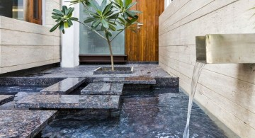 indian modern house small pond
