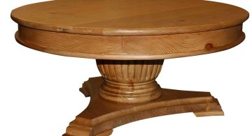 low pedestal table base ideas