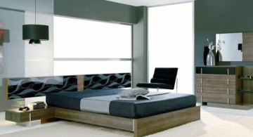 manly bedrooms in cool colors