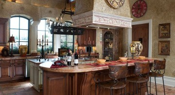 mediterranean kitchen designs with exhaust