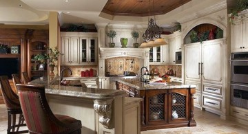 mediterranean kitchen designs with l shaped bar