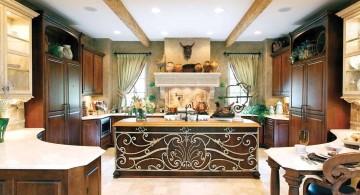 mediterranean kitchen designs with lavish decoration