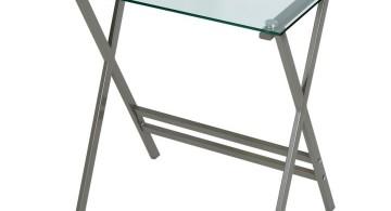 minimalist X clear office desk
