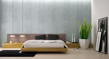 minimalist manly bedrooms with grey wall