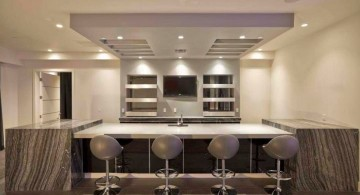 minimalist modern home bar design