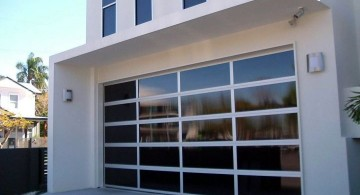 modern glass door for garage