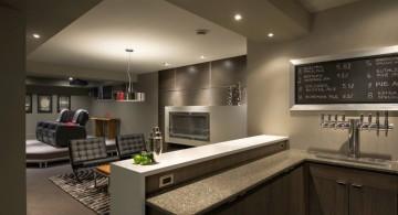 modern home bar design for basement
