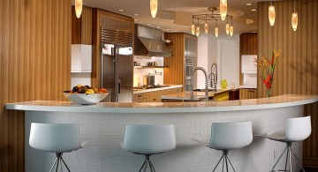 modern home bar design in a corner