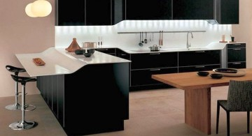 modern home bar design in black and white