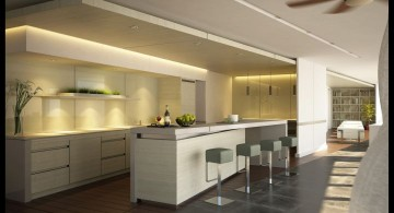 modern home bar design in white and grey