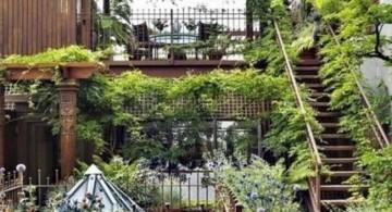oriental garden design for rooftop