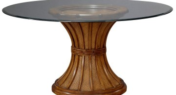 pedestal table base ideas wood and glass top