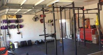 reuse the garage for home gyms ideas