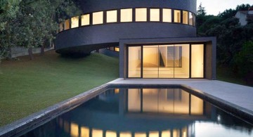 rounded futuristic house plans