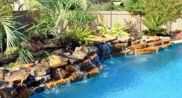 short pool waterfall ideas
