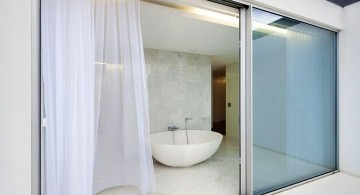 simple clear modern glass door