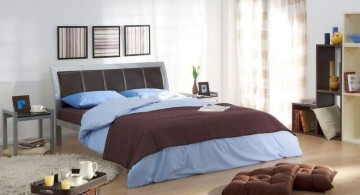 simple in blue and brown manly bedrooms