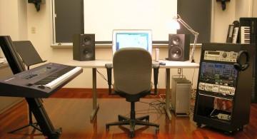 simple loft home music room