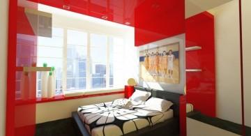 simple minimalist black and red bedroom ideas