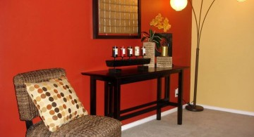 simple red wall accent