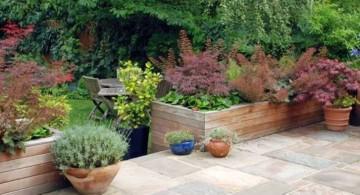 simple terraced flower garden