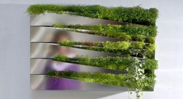 sleek modern indoor wall hanging planter