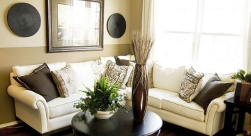 small living room ideas in cream and coffee