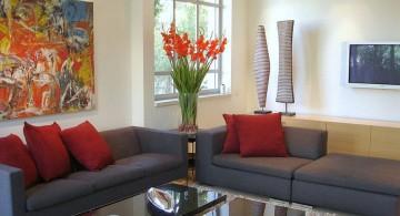 small living room ideas in dark industrial grey