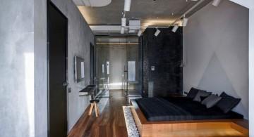 st petersburg loft master bedroom