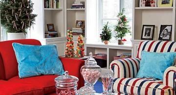 stripes christmas room